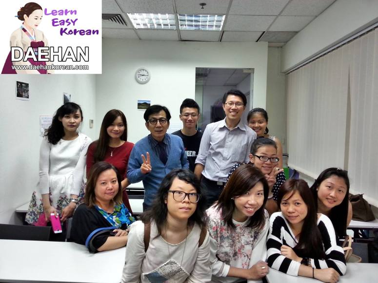 Korean learners of Basic Level 3 with Yeacher Harry Quek