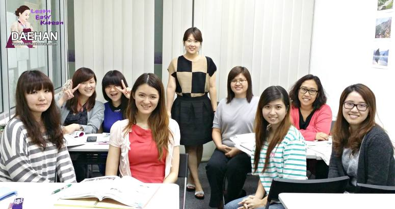 Teacher Ms Oh and her students of Korean Language Class