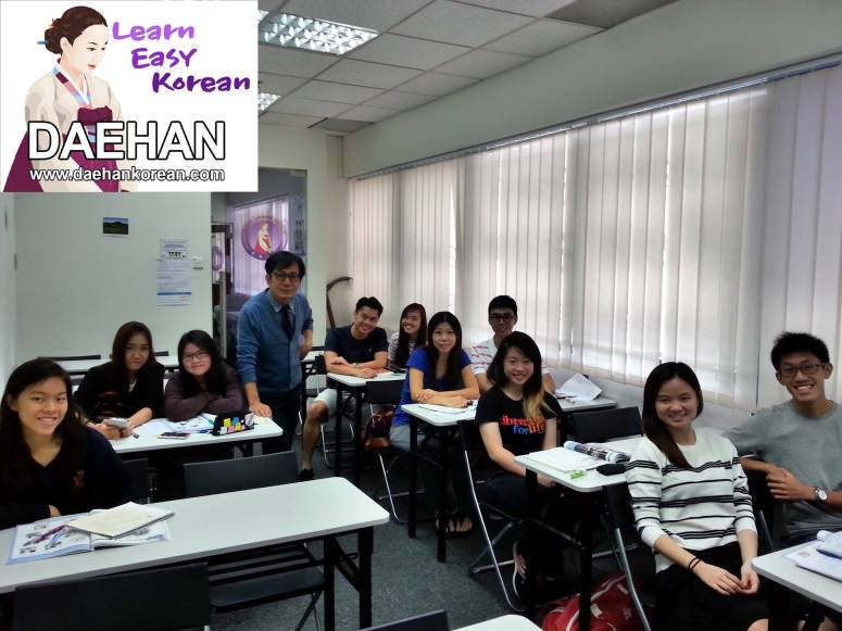 Teacher Mr Harry Quek and his students of Full Time Class of Korean Language Course