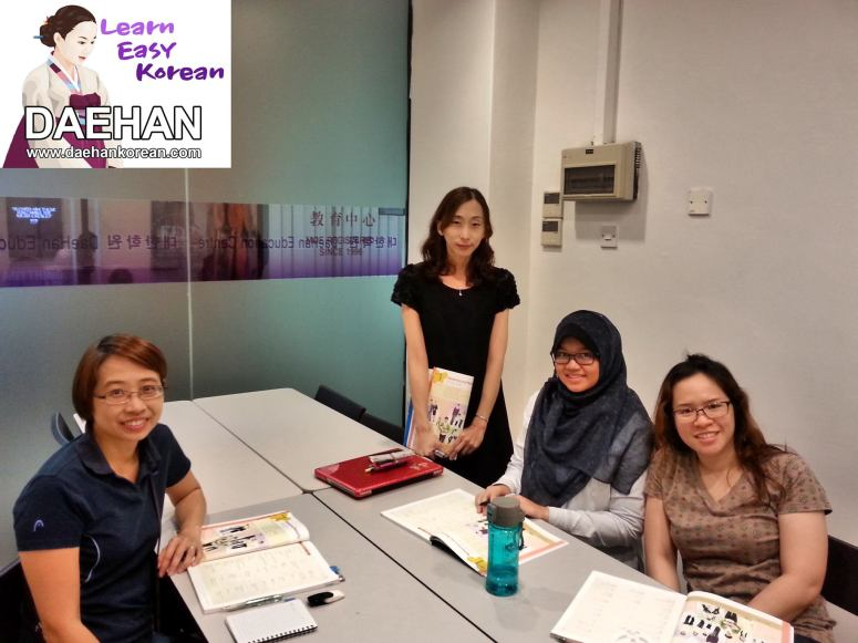 Teacher Ms Mireu Sng and her students of Korean Language Course
