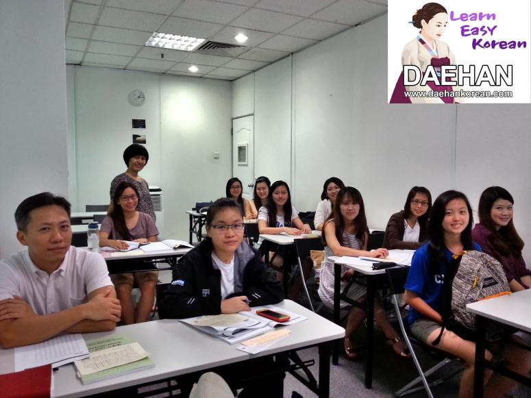Teacher Ms EY Park and her students of Korean Language Course