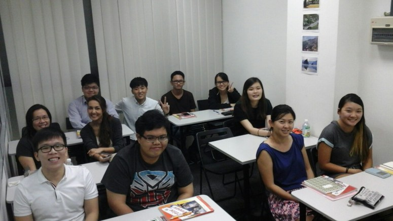 Teacher Mr JS Lee and his students of Korean Language Class