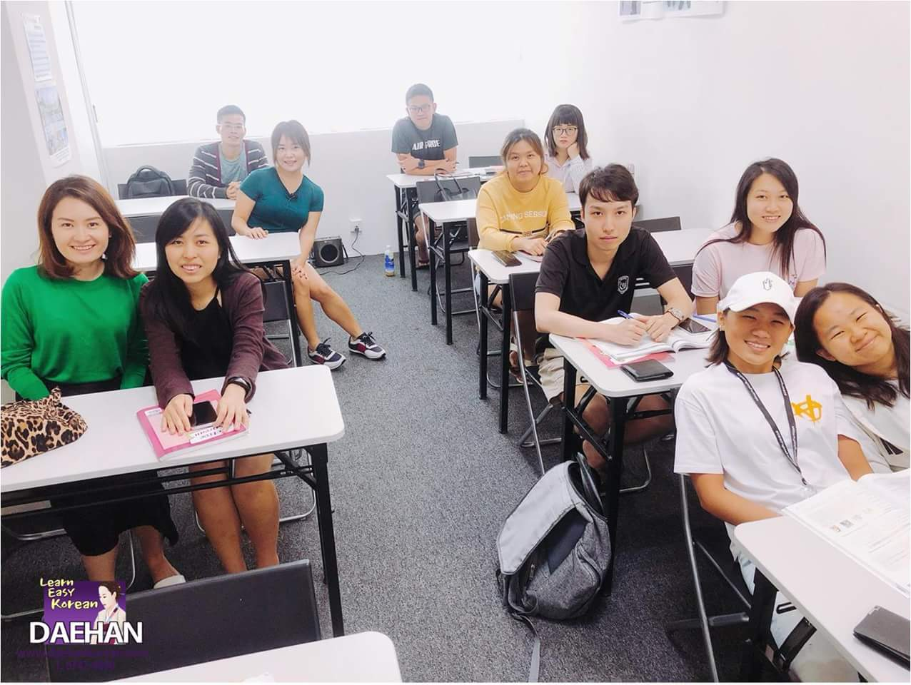 Teacher Ms You and her students of Korean Language Class