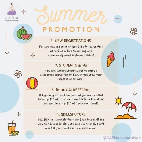 Daehan Korean SUMMER PROMOTION