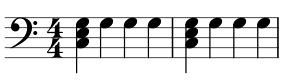 mano izquierda piano