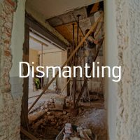 Dismantling with DA Environmental Services Gloucestershire