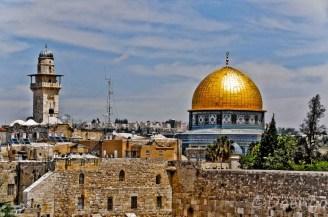 Dome of Rock and Wailing Wall, Jerusalem