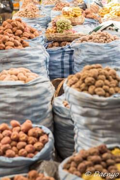 Potatomarket in Sucre, Bolivia