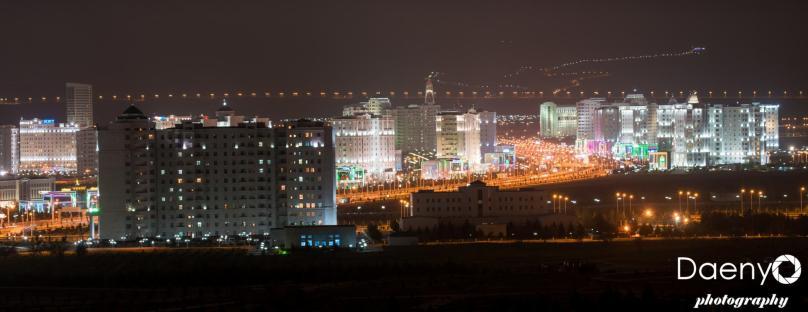 Ashgabat at night