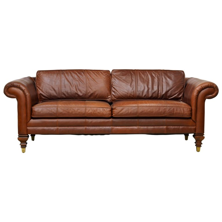 Sink Into This Beautifully Soft Vintage Leather Sofa And Put Your Feet Up,  Because You Should Be As Comfortable As You Are Stylish.