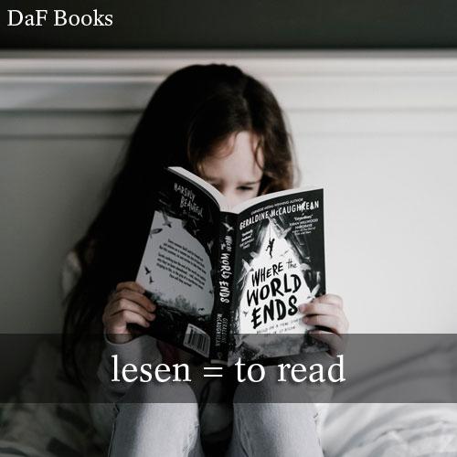 lesen - to read: DaF Books vocabulary list