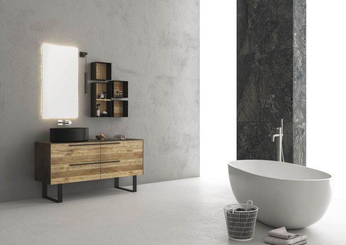 Mobile bagno moderno Castagno