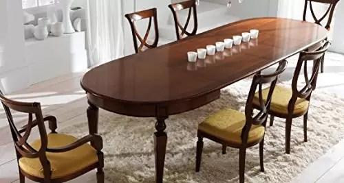 Table Extensible Ovale Pour Le Salon Et La Salle A Manger Couleur