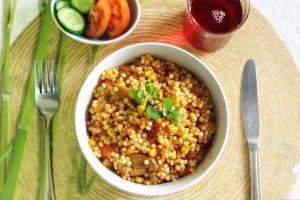 קדירת פתיתים וירקות ברוטב עגבניות