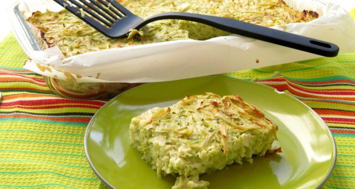 פשטידת קישואים גבינות ונודלס
