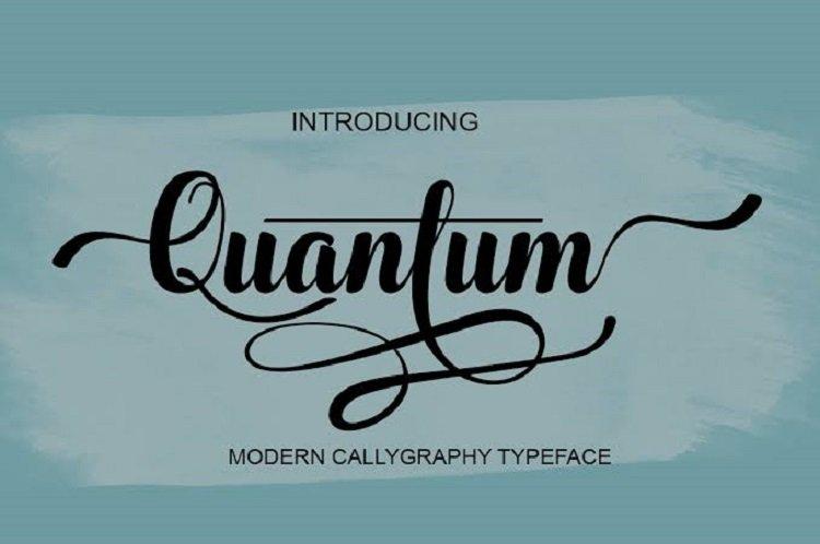 Quantum Typeface