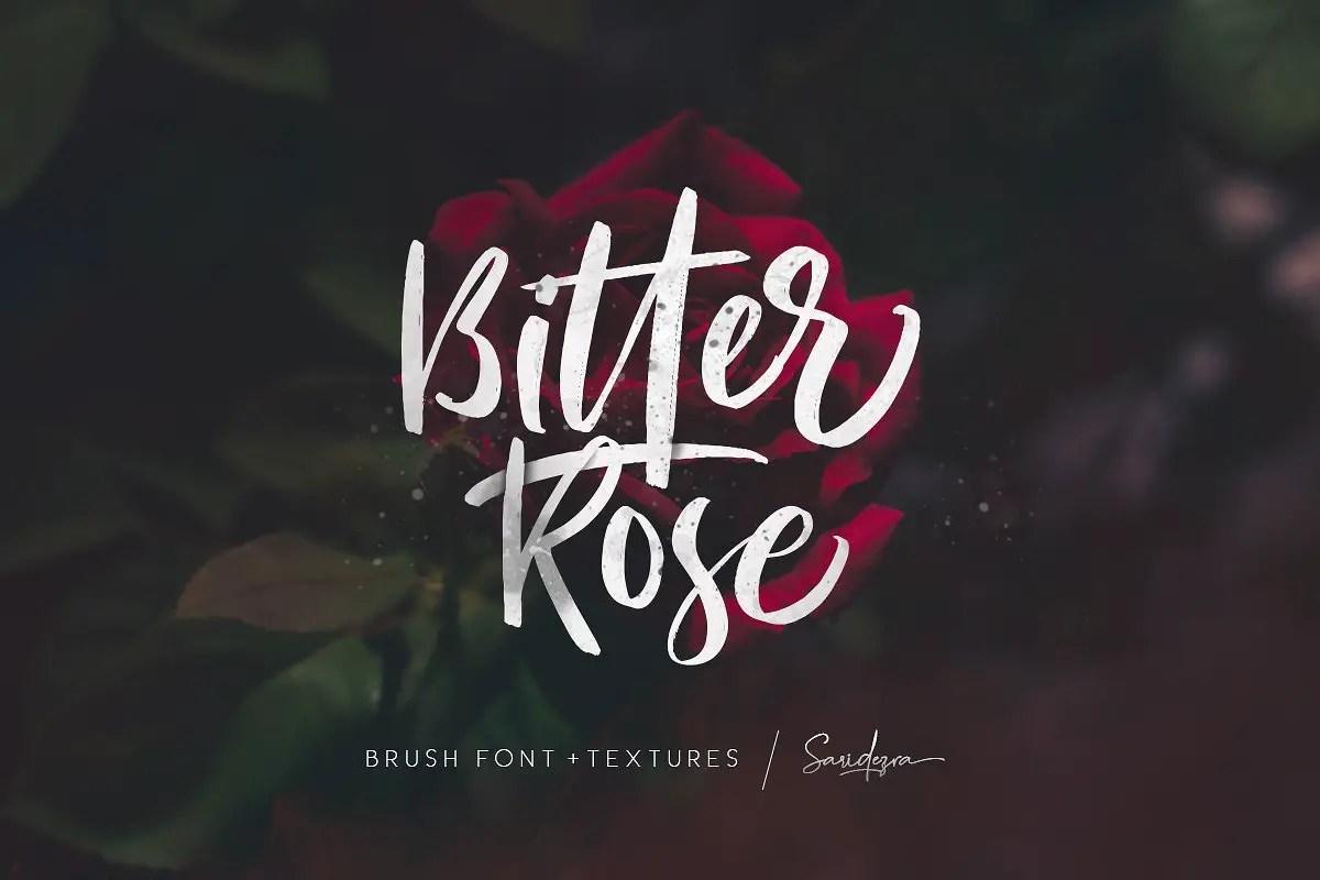 bitter-rose-brush-font