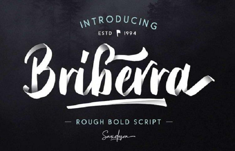briberra-free-font