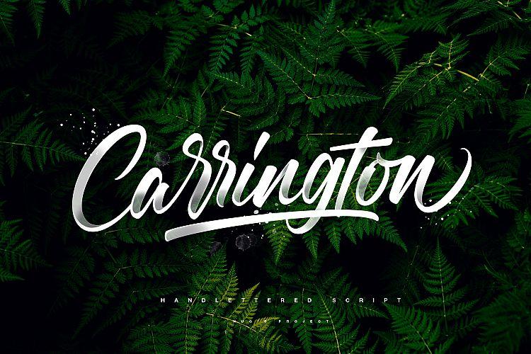carrington-script-font