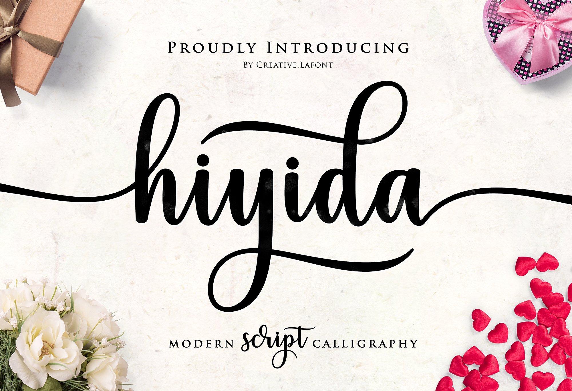 hiyida-script-font
