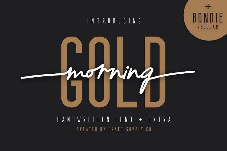morning-gold-handwritten-font