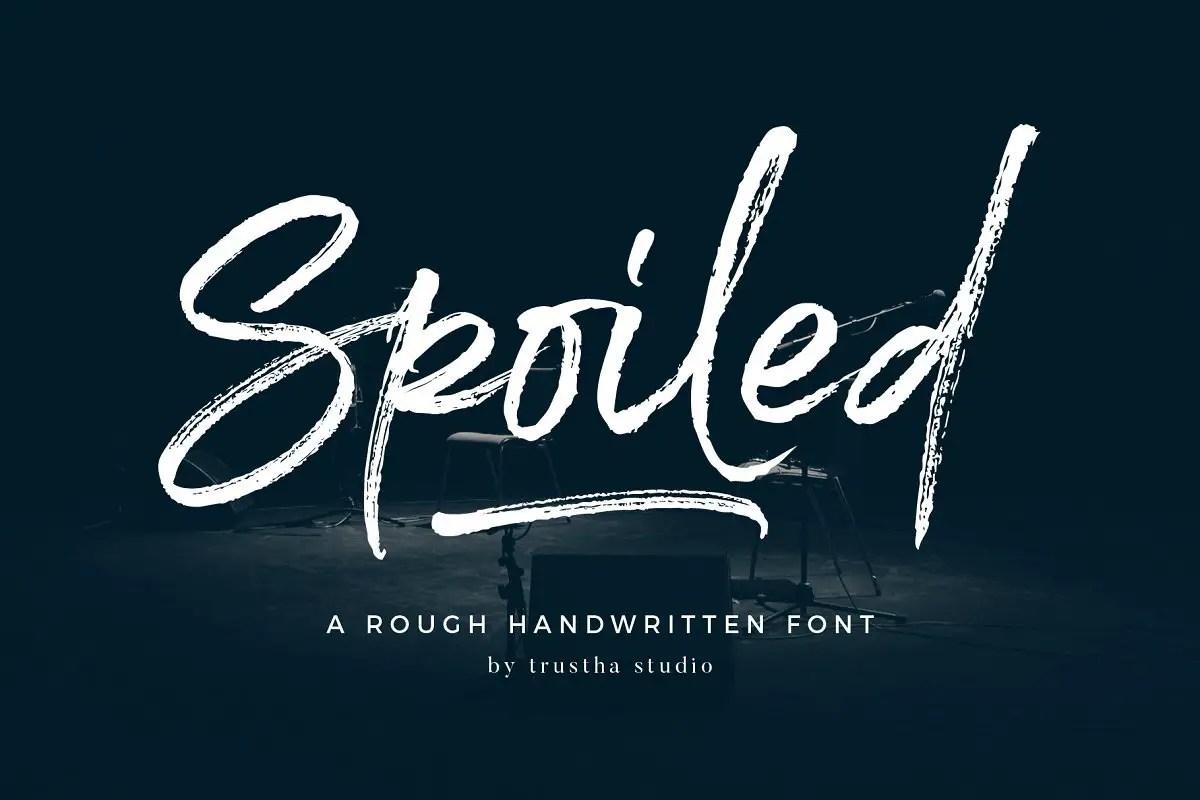 spoiled-brush-font
