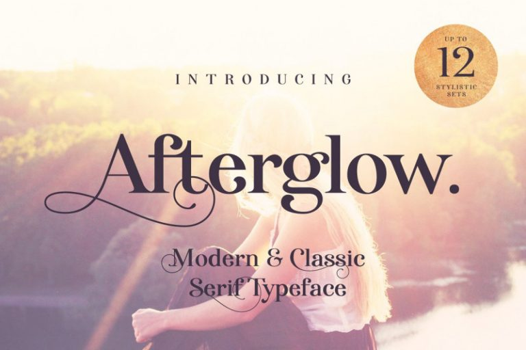 afterglow-typeface-768x512