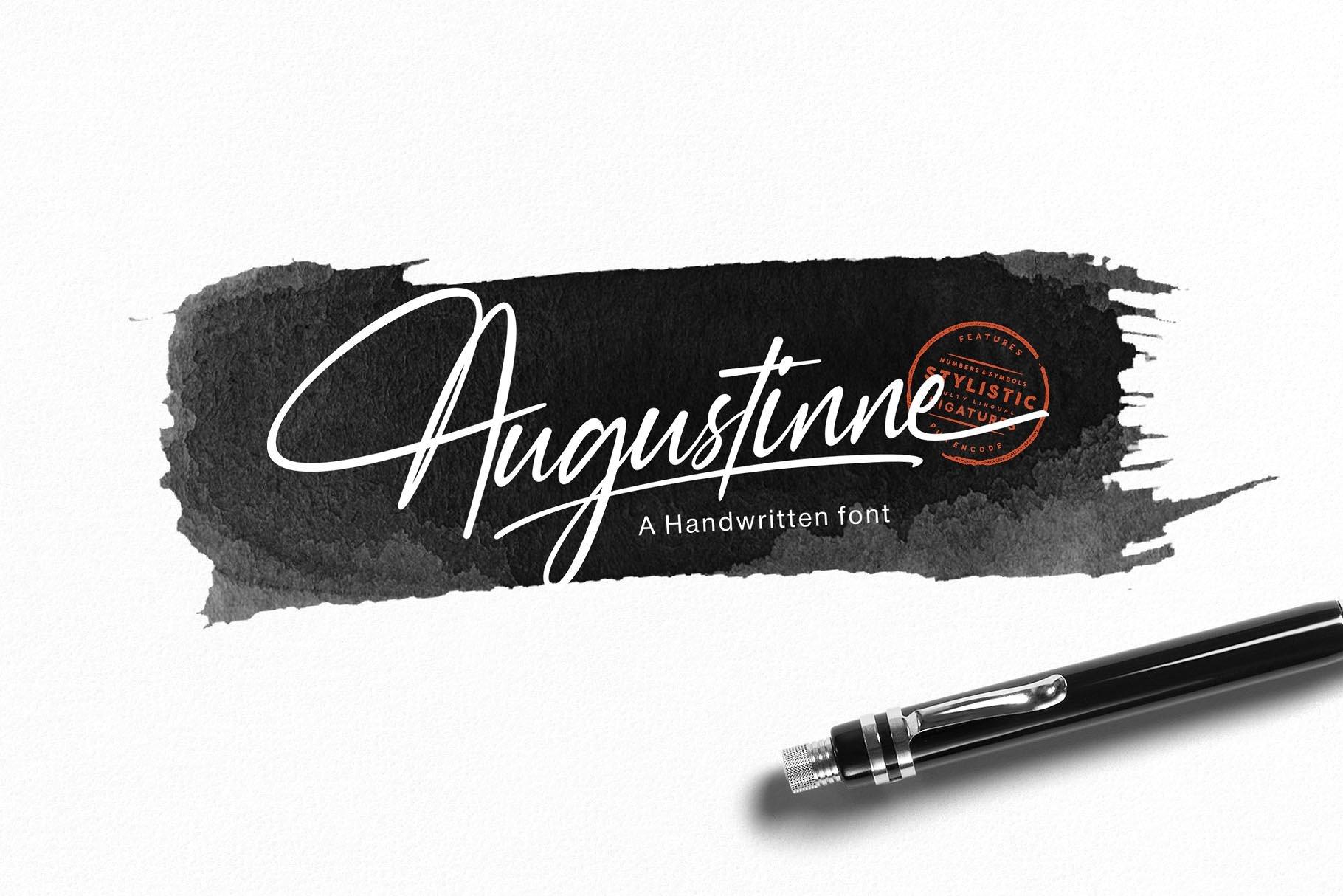 augustinne-handwritten-font