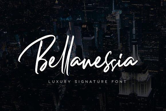 bellanessia-signature-font