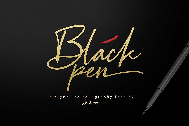 black-pen-signature-font