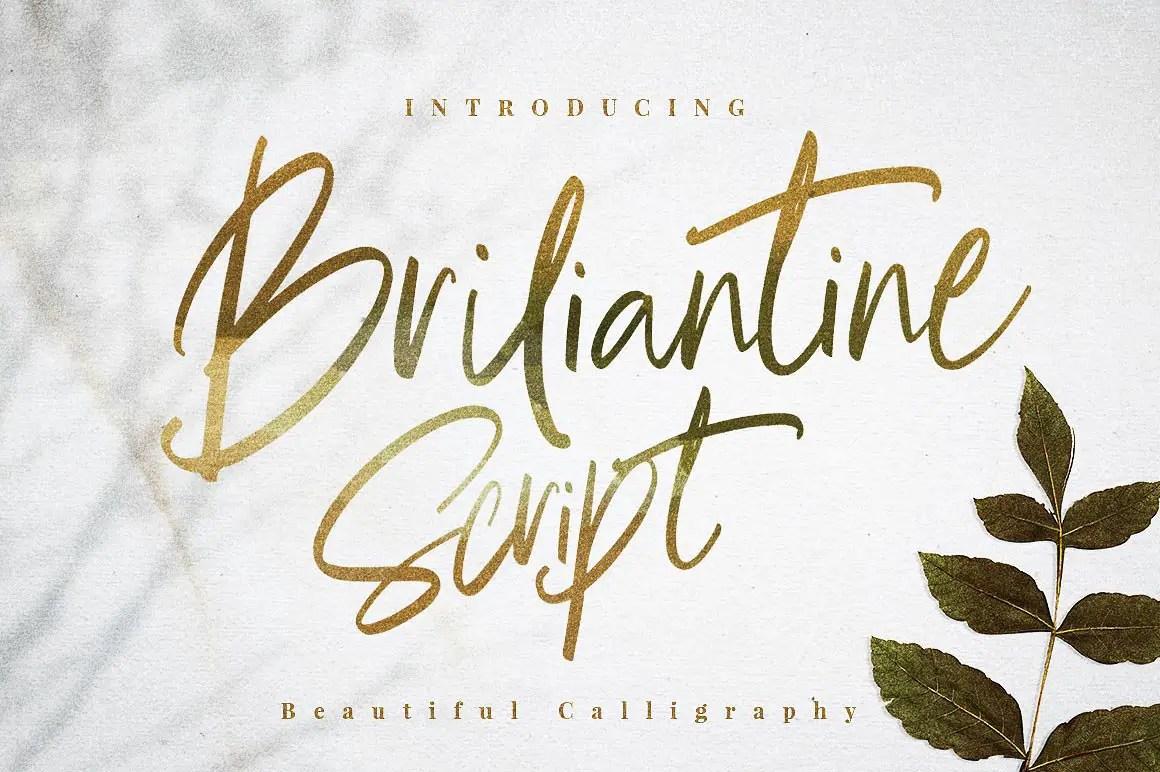 briliantine-script-font