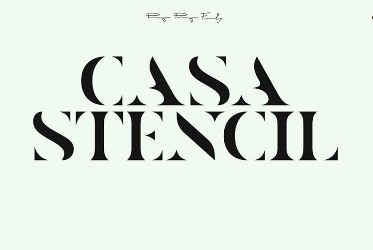 casa-stencil-free-font