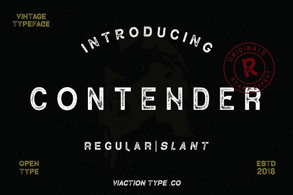 contender-vintage-font