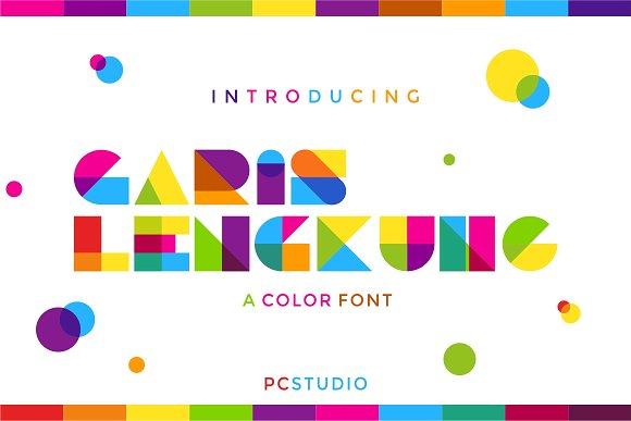 garis-lengkung-colorful-font