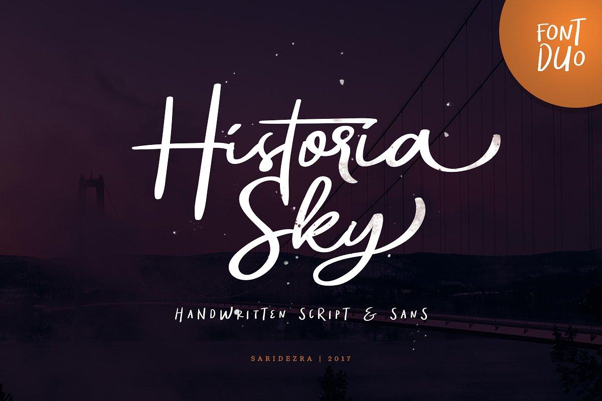 historia-sky-script-font