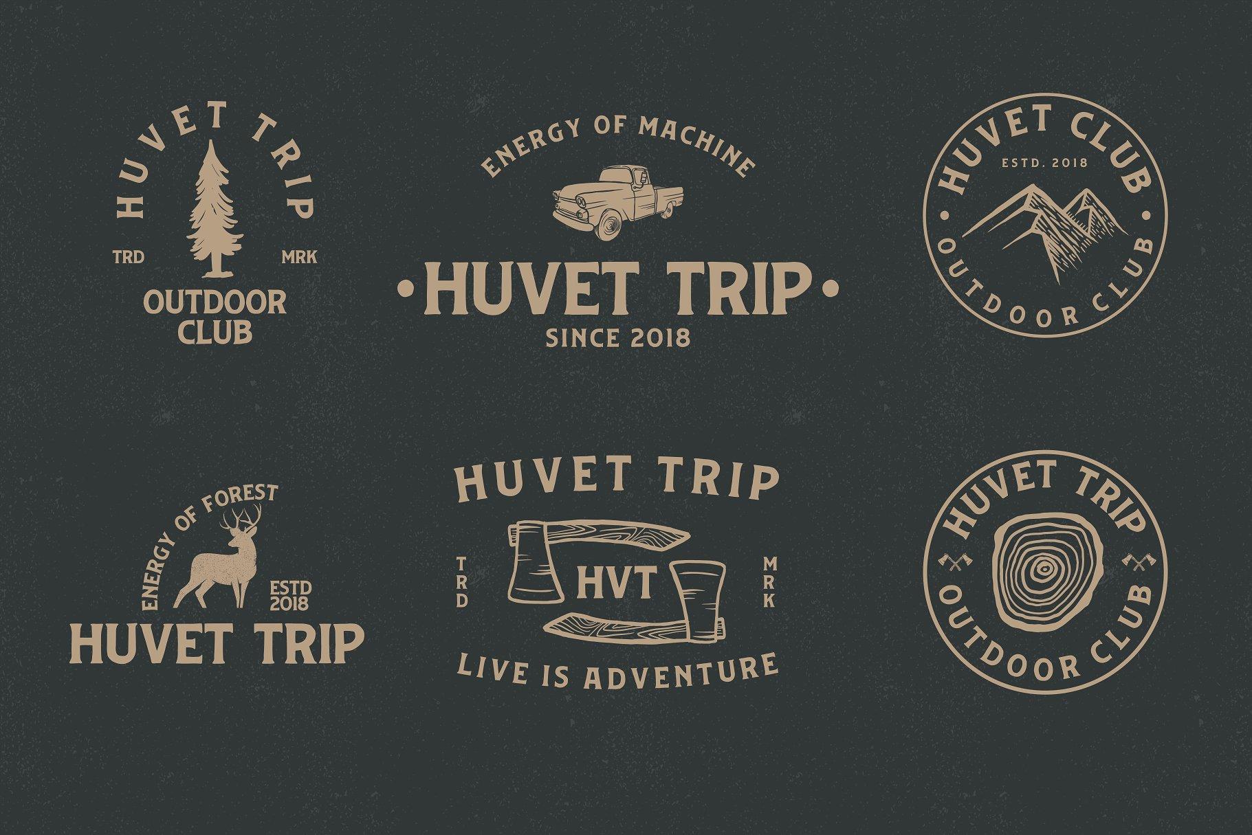 huvet-vintage-font-2