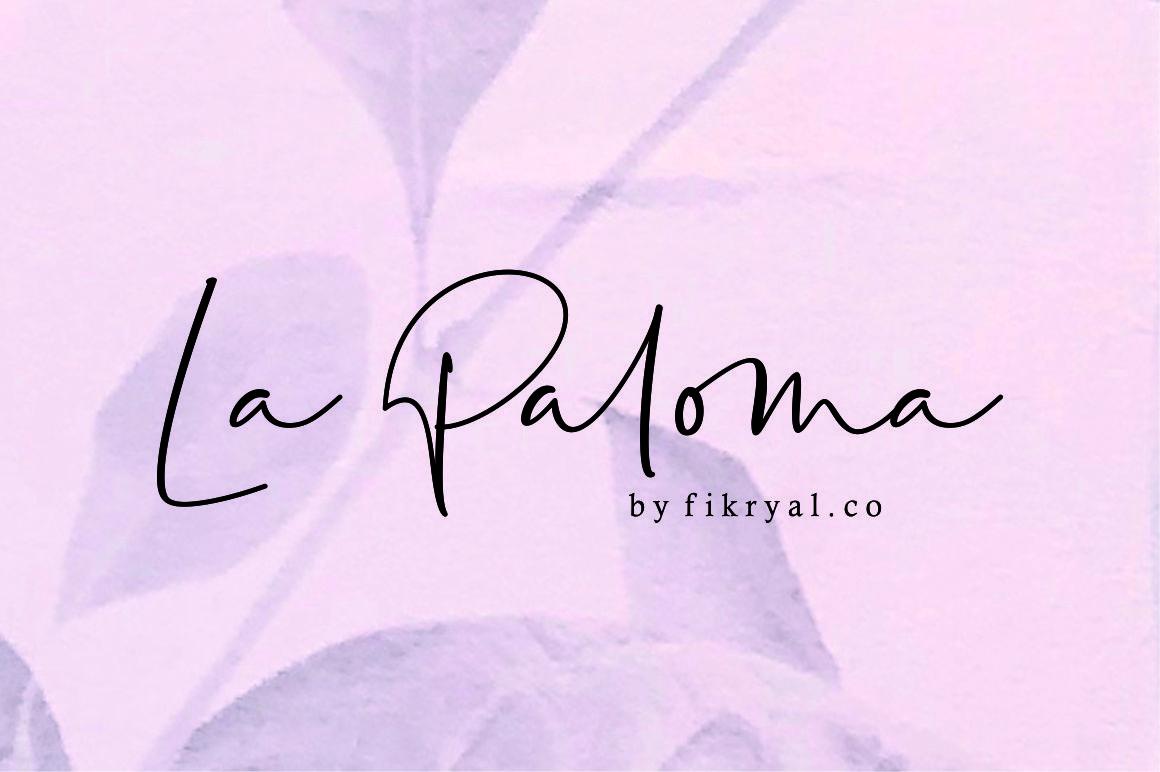 la-paloma-handwritten-font