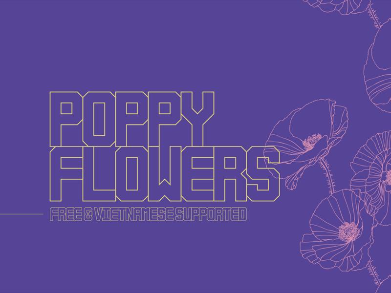 Poppy-Flowers-Typeface-800x600
