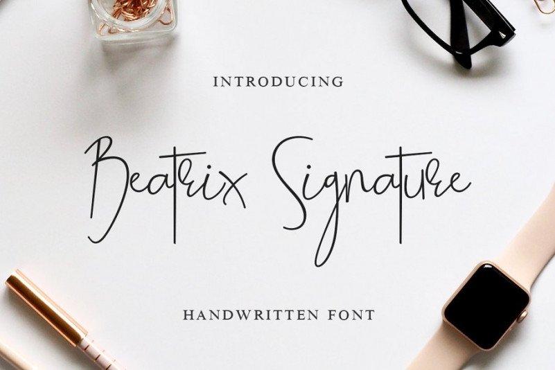 beatrix-signature-font