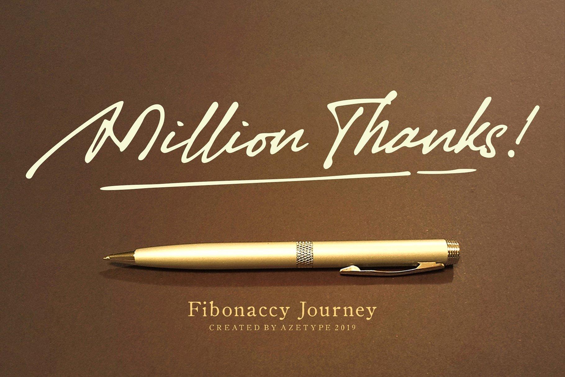 fibonaccy-journey-script-font