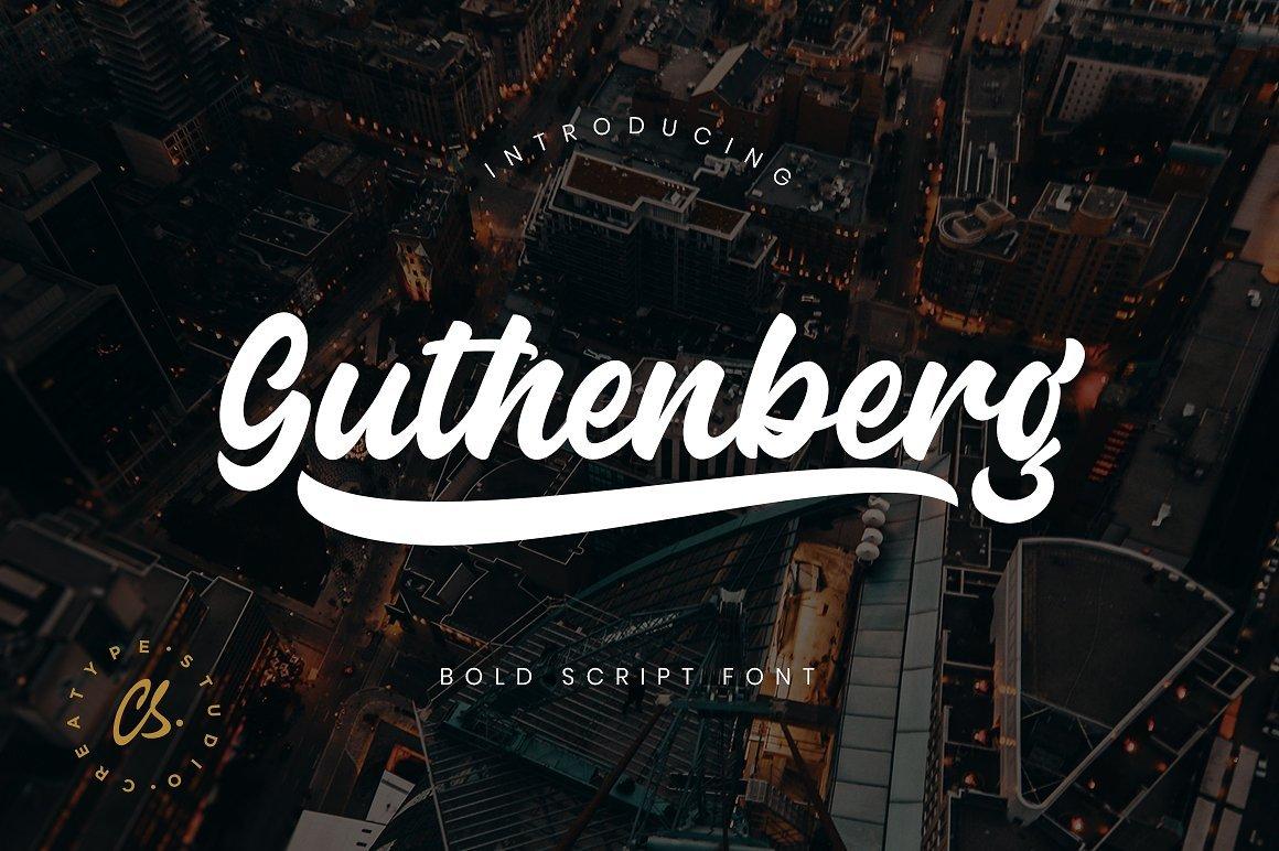 guthenberg-bold-script-font