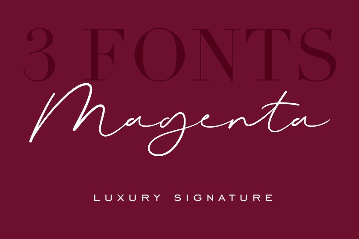 magenta-signature-font
