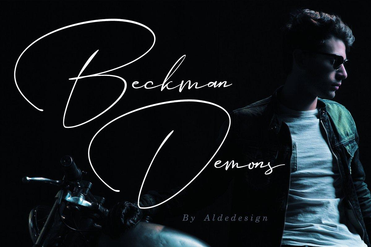beckman-demons-signature-font