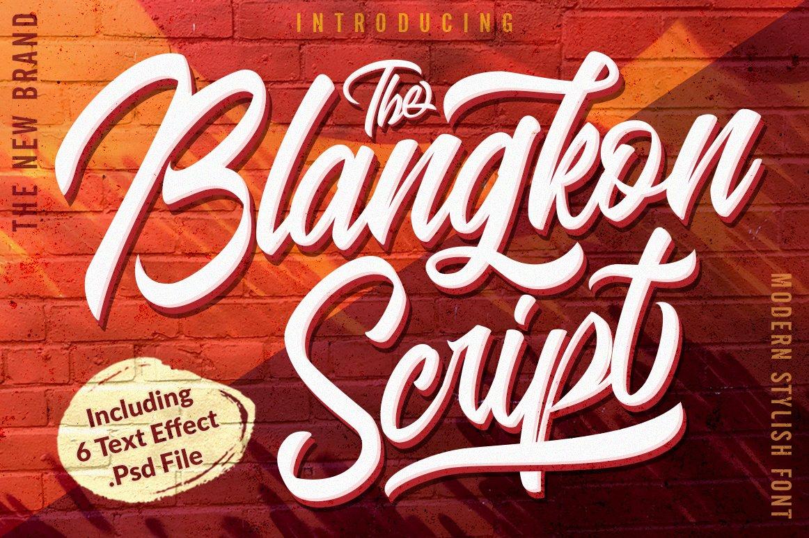 blangkon-script-font
