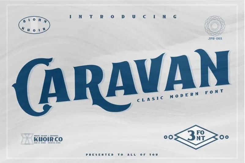 caravan-display-font