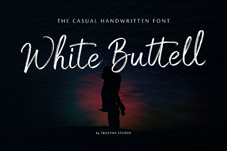 white-buttell-brush-font