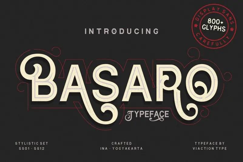 basaro-display-font