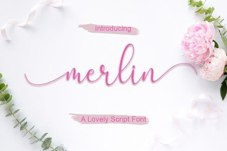 merlin-script-font