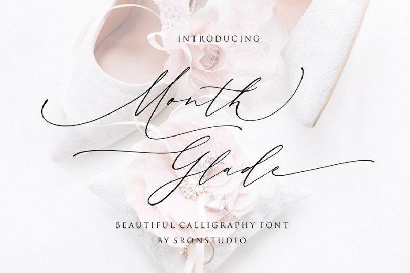 month-glade-handwritten-font