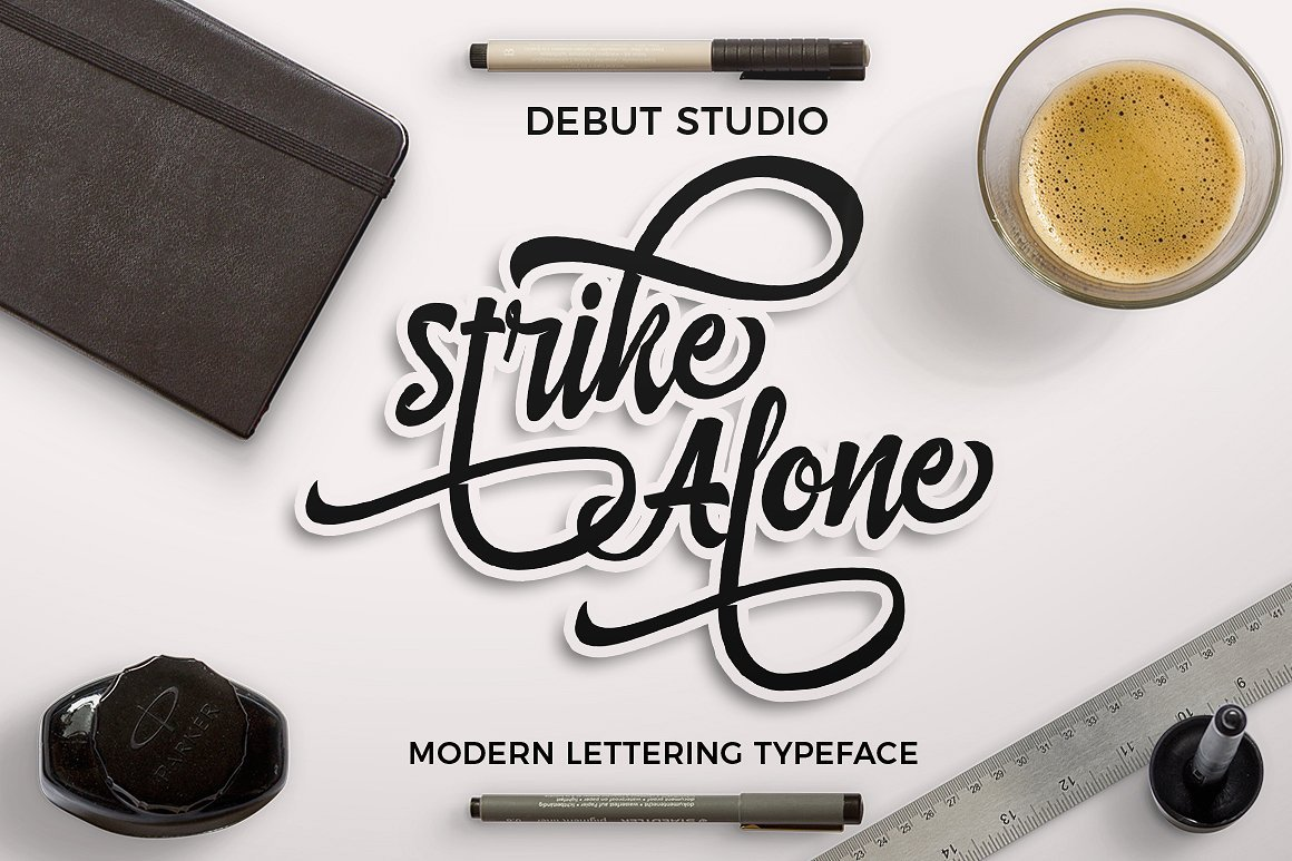strike-alone-script-font
